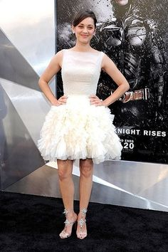 """Marion Cotillard, who plays Miranda Tate in the film, attends """"The Dark Knight Rises"""" New York Premiere."""