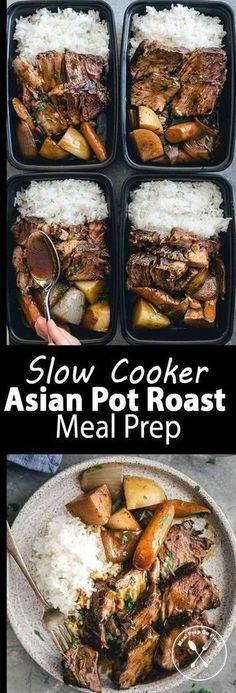 Slow Cooker Asian Pot Roast Meal Prep - Meal Prep on Fleek