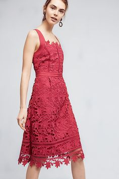 Mulberry Cross-Back Dress