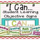 Display your classroom learning objectives with these BRIGHT and COLORFUL printable signs! This is a high resolution PDF file ready for you to prin...