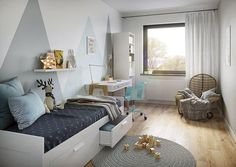 Miarodajny - wariant X Small House Design, Home Design Plans, Bunk Beds, Kids Room, Toddler Bed, Storage, Furniture, Home Decor, Tiny Houses