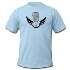 Light blue mic T-Shirts  You Can Put this design on any of the 100+ Wearable options or assessors!!