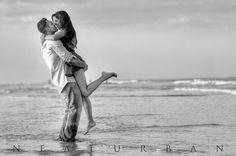 black and white beach pic