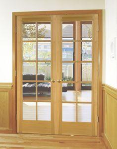 Woodgrain Wood Door - Poplar French Interior door