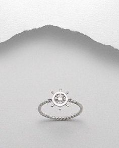 Fab find STERLING SILVER NAUTICAL ROPE WITH SHIPS WHEEL PROMISE RING SIZE 9