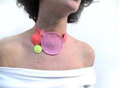 Silvina Romano-crawly textile jewelry