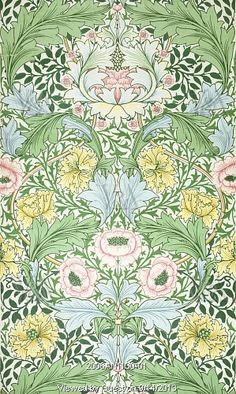 Myrtle wallpaper, by William Morris. England, 1889