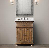 St. James Powder Vanity Sink Guest bathroom vanity