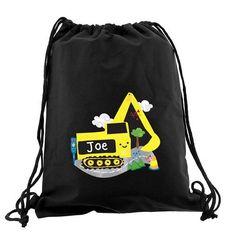 Personalised Black Kit & Swim Bag - Digger