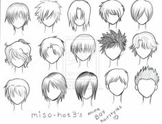 Anime boy, hairstyles, text, male; How to Draw Manga/Anime