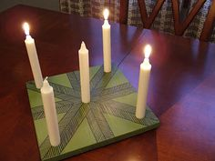 "DIY advent ""wreath"""