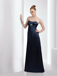 Strapless shirred bust with detail pin on bust,Maternity Styling available, Solid Only.