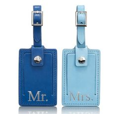 """Tumi Luggage Tag Box Set would be a nice gift for the """"have everything"""" couple."""
