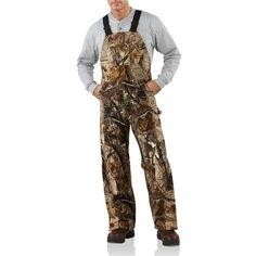 Carhartt AP Camo Bib Overalls - Insulated, Quilt-Lined (For Men) in Camo Ap