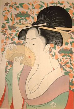The Oriental Beauty Kushi by Kitagawa Utamaro Acrylic Wall Art - portrait gifts cyo diy personalize custom Japanese Geisha, Vintage Japanese, Japanese Kimono, Art Asiatique, Panel Wall Art, Acrylic Wall Art, Japanese Painting, Japanese Prints, Japanese Drawings