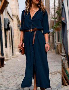 Long Sleeve Maxi, Maxi Dress With Sleeves, Half Sleeves, Sleeved Dress, Long Sleeve Dresses, Summer Dresses With Sleeves, Long Summer Dresses, Long Shirt Dress, Women's Summer Dresses