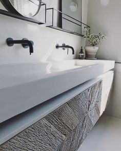 minor bathroom remodel is certainly important for your home. Whether you pick the bathroom remodel wainscotting or bathroom renovations, you will create the best bathroom demolition for your own life. Black Bathroom Taps, White Vanity Bathroom, Bathroom Vanity Designs, Bathroom Interior Design, Bathroom Ideas, Large Bathrooms, Dream Bathrooms, Bathrooms Online, Luxury Bathrooms