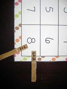 Math center games