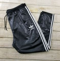 Adidas Chile62 Trefoil Black Wet Look Basketball Athletic Pants  2xl NWOT  | Clothing, Shoes & Accessories, Men's Clothing, Pants | eBay!