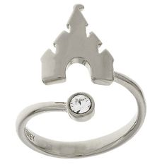Your WDW Store - Disney Ring - Castle Adjustable - Silver Tone