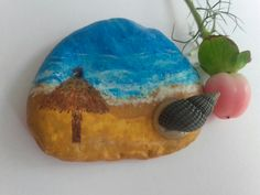 Summer dream - painted stone