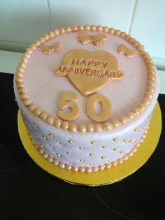 Cake I made for golden wedding anniversarie x