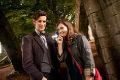 pic of new 'Doctor Who' team Matt Smith and Jenna-Louise Coleman released