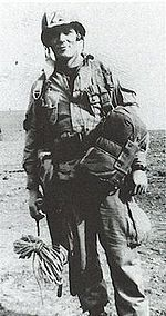 "Major Richard Winters was a United States Army officer and decorated war veteran. He commanded Company ""E"", 2nd Battalion, 506th Parachute Infantry Regiment, 101st Airborne Division, during World War II.  The miniseries 'Band of Brothers' was about this company.  Winters returned to service during the Korean war as a training officer.  He died in 2011."