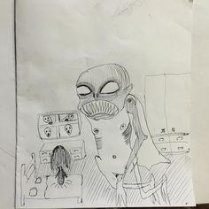 Los visitantes nocturnos  #artbrut #kunst #rawart #outsiderart #art #creepy #naiveart #artcontemporain #abstraction #instagood #creative #primitivism #beautiful #photooftheday #pen #queerart #igart  #artistsoninstagram #contemporaryart #illustration  #creepyart  #primitiveart  #paper  #instaart  #sketchbook #instaartist #expressionism #artoftheday #modernart #rawartist