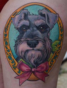 Schnauzer coloured tattoo