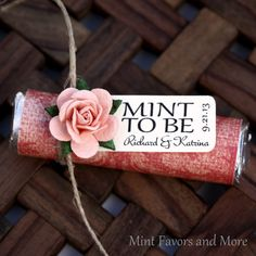 Mint Wedding Favor with Personalized Mint to by MintFavorsAndMore