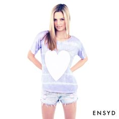 Ensyd Iconic // Stripe Dye Heart Tee