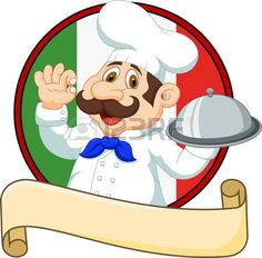 chef hat: Vector illustration of Cartoon funny chef with a moustache holding a…