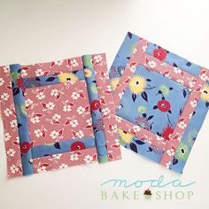 Tips and Tricks: Seam Allowances « Moda Bake Shop  Layer Player blocks - fabric is Fresh Air by American Jane