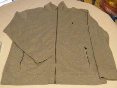 Polo Ralph Lauren zip up jacket LT Tall Mens Estate Rib 4003 Andver Heather grey #RalphLauren #Jacket
