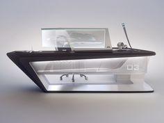 Modern desk design on Behance