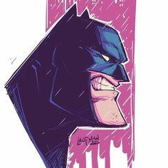 Sometimes you just gotta draw Batman. Warm up sketch in Manga Studio Game Character Design, Comic Character, Cartoon Sketches, Cartoon Art, Illustrations, Illustration Art, Batman Tattoo, Batman Artwork, Bd Comics