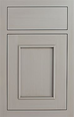 Tribeca Recessed door style by #WoodMode, shown in Designer Opaque finish Vintage Silver Mist on MDF.