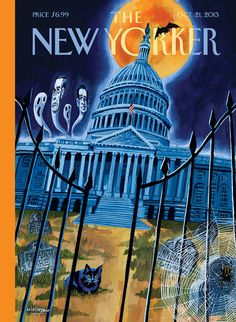 """A look at this week's cover about the government shutdown, """"Haunted House,"""" by Mark Ulriksen"""