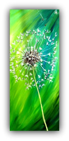 "Mixed Media Painting ""Dandelion Dreams"" by Amber Wardell"