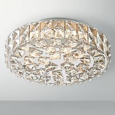 "Possini Euro Design Geneva 16"" Wide Crystal Ceiling Light - #X8824 