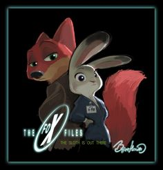 anthro byron_howard canine clothed clothing crossover disney duo female fox green_eyes hi_res judy_hopps lagomorph long_ears looking_at_viewer male mammal nick_wilde purple_eyes rabbit the_x-files zootopia Zootopia Comic, Zootopia Art, Walt Disney, Disney Love, Disney Art, Detective, Byron Howard, Disney Wall Decor, Zootopia Nick And Judy