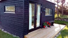 Shelter, Tiny House, Facade, Garage Doors, Shed, Deck, Exterior, Outdoor Structures, Cabin