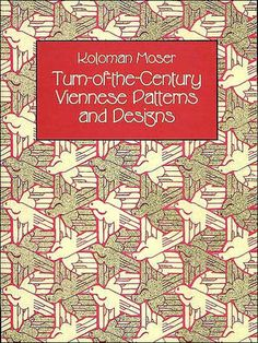 Koloman Moser: Turn-of-the-Century Viennese Patterns and Designs. Sixty full page Art Nouveau-inspired illustrations (30 colour, 30 black & white) including textile, wallpaper, rug and wall hanging designs; subjects include ferns, flowers, berries, human figures, masks and exotic dancers, among others. Softcover, Dover Books