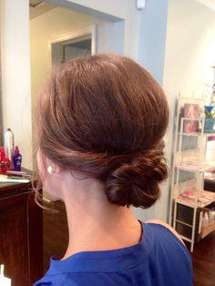 Wedding hair- Twist knot updo