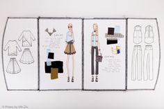 Fashion Sketchbook - fashion design drawings; fashion student portfolio // Franky Tran