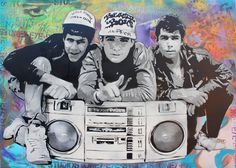Beastie Boys Stenciled Art Print signed by SoultryDubs on Etsy