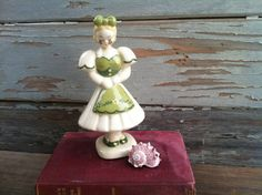 Preciousness!  Darling lass figurine hand painted vintage by happydayantiques, $11.50