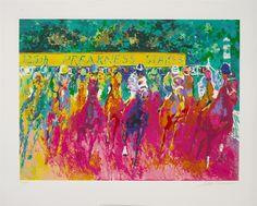 "Preakness Stakes"" by LeRoy Neiman - Park West Gallery Leroy Neiman, Preakness Stakes, Most Popular Artists, West Art, Museum Of Fine Arts, Online Gallery, Kentucky Derby, American Artists, Horses"
