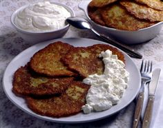 Potato Pancakes: First thing to note is almost all traditional Lithuanian food includes potatoes (bulves).